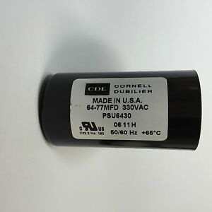 64-77uf  PSU6430 330VAC Cornell Dubilier Motor Start Capacitor CDE 64-77mfd