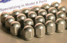 1928-1931 Model A Ford Cadmium Plated Acorn Lug Nut Set of 23.