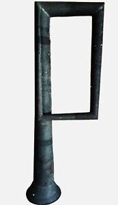 Big Antique TIN Folk Art sculpture Whimsy Canal Barge fog HORN 10th Anniversary