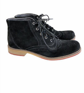 Wolverine Paxton Wingtip Chukka Boot Suede Black Shoes 9