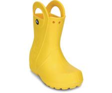 Crocs Handle It Rain Wellies Boys Girls Kids Slip Pull on Wellington BOOTS Uk6-3 Yellow Infants UK 9