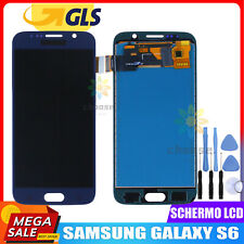 DISPLAY LCD PER SAMSUNG GALAXY S6 G920 SM-G920F RETINA TOUCH SCREEN SCHERMO BLU