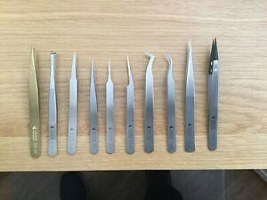 10 Swiss made precision tweezers