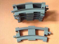 LEGO DUPLO @@ TRAIN @@ GARE @@ LOT DE 6 RAILS COURBES @@ DARK GREY @@ TBE