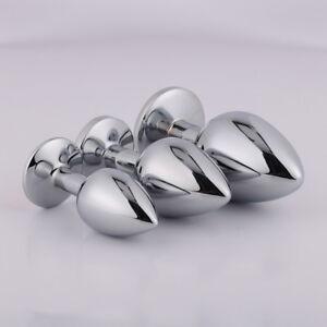 Anal Plugs Stainless Steel Metal Anal Butt Plug Adult Sex Toys  Jewel Plug(UK)