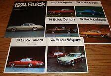 Original 1974 Buick Sales Brochure Lot of 7 74 Full Line Electra LeSabre