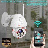 5X ZOOM Wireless Outdoor CCTV HD 1080P WIFI IP Camera Home Security IR Camera