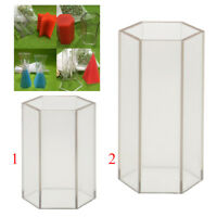 2pc Hexagon Plastic Soap Candle Making Mould Cake Decorating Mold Craft Tool
