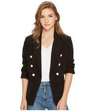 kensie (JL8269-62) Double-Breasted Blazer Jacket Black Sz XS $99