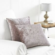 2 x Crushed Velvet Cushion Covers Blush Pink Pillow Case Sofa Chair Seat Pad 17""