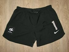 RARE #1 FRANCE 2012-14 SHORTS GOALKEEPER BLACK PLAYER ISSUE SIZE M
