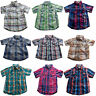 Boys Checked Shirt Short Sleeved Cotton New Button Front Ages 18M 2T 3T 4T