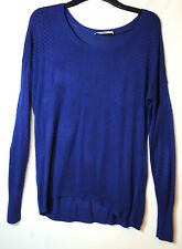 NAVY/ROYAL BLUE LADIES CASUAL JUMPER PULLOVER LIGHT OASIS SIZE M