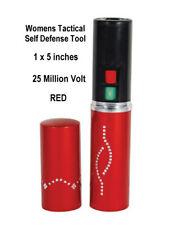 RED MINI Stun Gun 25 MILLION Volts NEW w Flashlight Self Defense RESTRICTED _{{