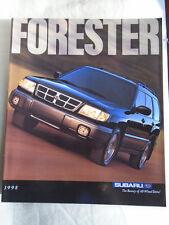 Subaru Forester range brochure 1998 USA market