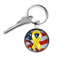 Support Our Troops Keyring, Military, Gifts for Him, Gifts for Her, Key Chain