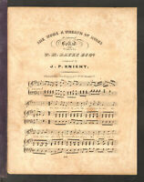 She Wore A Wreath Of Roses ca1835 Philadelphia Antique Sheet Music
