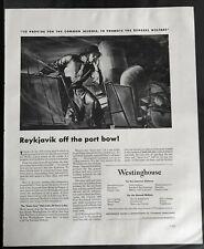 Merchant Marine Supplies Reykjavik , Iceland,  WWII Westinghouse  Ad