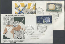 CFA REUNION FDC - 355 356 1 PLEUMEUR BODOU SATELLITE - SAINT DENIS 2 1 1963