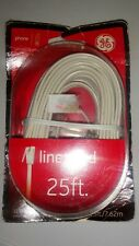 GE 25 ft. Phone Modem Line Cord, White 12193 -New Other