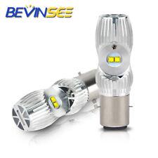 2x Lampe Birne Weiß LED BA20D S2 Scheinwerfer 12V 12W 12W Hi/Lo Roller Motorrad