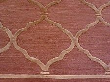 Modern silk & wool hand made rug light rust  gold color Tibetan 6'x9' Elegant