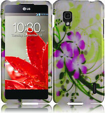 For Sprint LG Optimus G LS970 HARD Protector Case Snap On Phone Cover Green Lily