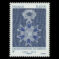 France 2013 - 50th Anniversary of the National Order of Merit Medal - MNH
