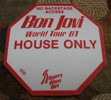 Vintage OTTO Bon Jovi Slippery When Wet Tour 1987 HOUSE ONLY Backstage Pass RED