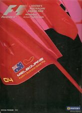 2004 AUSTRALIAN FORMULA 1 GRAND PRIX PROGRAM  good  CONDITION
