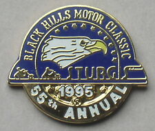 """VERY RARE"" STURGIS CHAMBER SOUTH DAKOTA 55th ANNUAL 1995 RALLY VEST PIN"