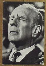 Carte postale Eduardo Comesana,Jorge Luis Borges, 1969 postcard