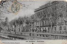 CPA 66 PERPIGNAN GRAND HOTEL (cpa émail Fau