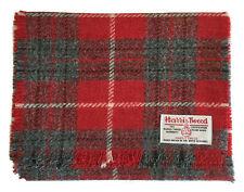 Traditional Harris Tweed 100 Wool Scarf Red
