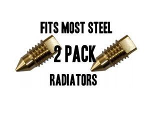 2 Radiator BLEED SCREW AIR / VALVE VENT FITS MOST STEEL RADIATORS BRASS Pair