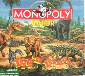 Dig'n Dinos Monopoly Jr. Dinosaur Theme Game Replacement Pieces - You Pick