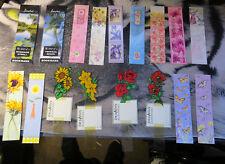17x Bookmarks Rose Sunflower Flower Jumble Bundle Teacher School Bag Lot Gift