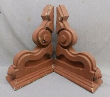 Antique Pair Wood Corbels Shabby Cottage Chic Vintage 439-17R