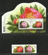 Canada 2008 Peonies--Attractive Flower Topical (2260-62) MNH