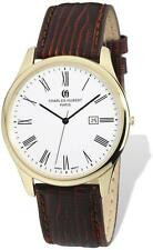 Mens Charles Hubert IP-plated Stainless Leather Band 43mm Watch