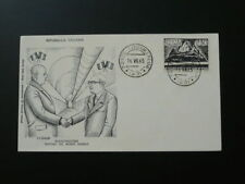 tunnel Mont Blanc 1965 FDC Filigrano Italy 64484