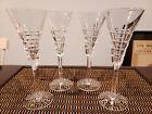 "(4) WATERFORD Crystal - KILRUSH Cut - Champagne Flute Glass / Glasses - 8 1/2"""