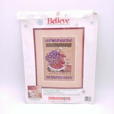 Dimensions 8408 - Believe - Vintage 1990 Cross Stitch Kit