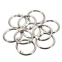 12 Pcs Metal Hinged Ring Book Binder Craft Photo Album Split Keyring Scrapbook