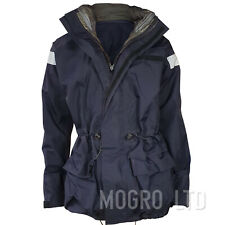 Genuine British Royal Navy Goretex Waterproof Foul Weather Hooded Jacket Blue