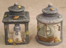 Coppia lanterne mare marinare faro in terracotta - cm 6 X 6 X 8,5