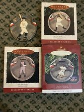 Hallmark Ornaments Baseball Complete Collectors Series Lot/4 Paige, Gehrig, Ruth