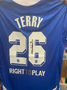 JOHN TERRY hand signed Chelsea no.26 Champions League shirt with proof BID