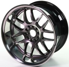 XXR 526 Silver 18 x 9 10.5 Deep Dish Huge Lip Staggered Wheels Rims 5x4.5 Stance