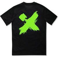 H4X Mens Splash X Graphic T-Shirt Printed Short Sleeves - Black/Neon Green 2XL